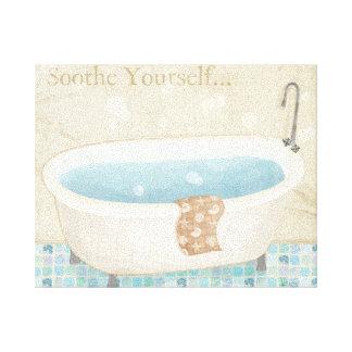 Mosaic Bath Canvas Print