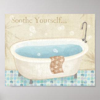 Mosaic Bath Poster