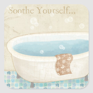 Mosaic Bath Square Sticker