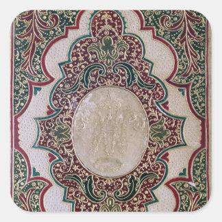 Mosaic binding, c.1745 square sticker