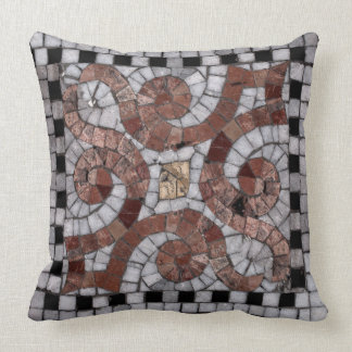 mosaic black and pink accent pillow