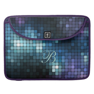 Mosaic Blues Rickshaw Flap Sleeve MacBook Pro Sleeve