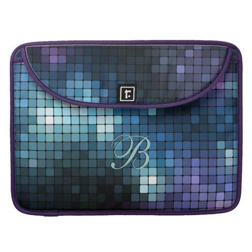 Mosaic Blues Rickshaw Flap Sleeve MacBook Pro Sleeve