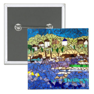 Mosaic Boats Button by Willowcatdesigns