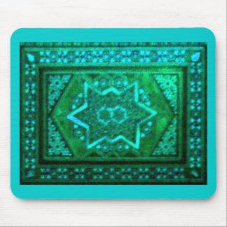 Mosaic Box Green Mouse Pads