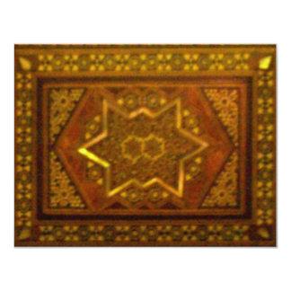 "Mosaic Box in Brown 4.25"" X 5.5"" Invitation Card"