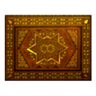 Mosaic Box in Brown Postcard