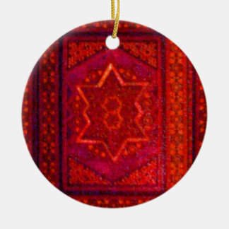 Mosaic Box in Red Christmas Ornaments
