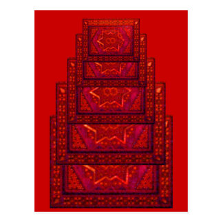 Mosaic Box in Red Postcard