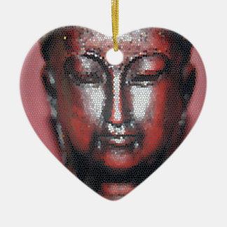 Mosaic Buddha Christmas Ornament
