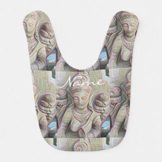 Mosaic  buddha statue bib