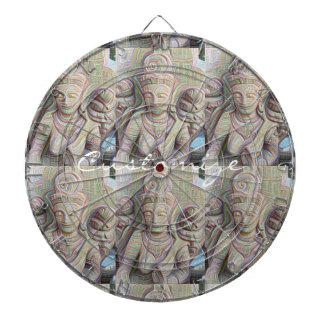 Mosaic  buddha statue dartboard