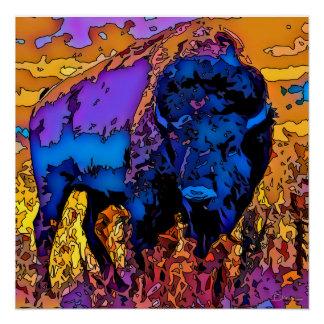Mosaic Buffalo Poster