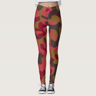 6e5313230240e Women's Red Camo Gifts Leggings & Tights | Zazzle UK