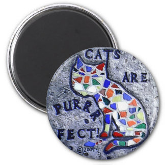 Mosaic Cat Magnet