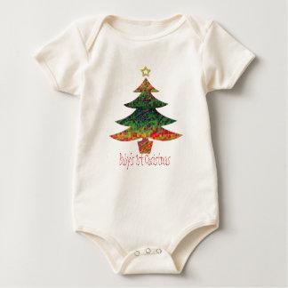Mosaic Christmas Tree Baby Bodysuit