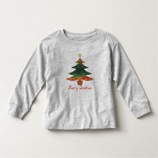 Mosaic Christmas Tree Toddler T-Shirt