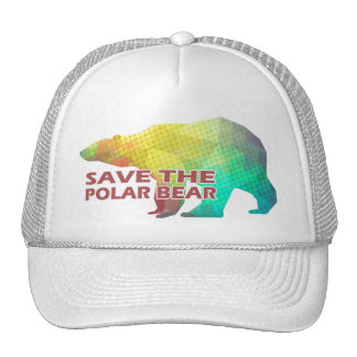 MOSAIC COLOR POLAR BEAR(SAVE THE POLAR BEAR) CAP