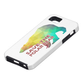 MOSAIC COLOR POLAR BEAR(SAVE THE POLAR BEAR) iPhone 5 COVERS