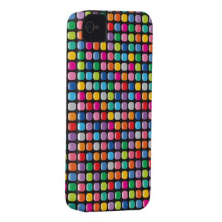 Mosaic Colorful Art Rainbow Dots iPhone 4 CaseMate iPhone 4 Case