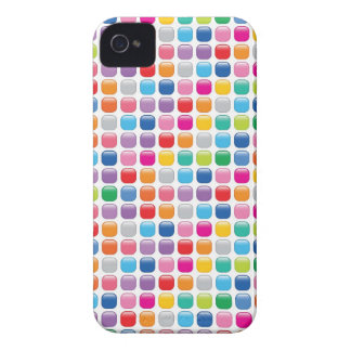 Mosaic Colorful Art Rainbow Dots iPhone 4 CaseMate iPhone 4 Cases