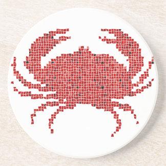 Mosaic Crab Beverage Coasters