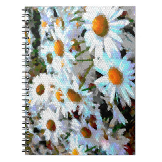 Mosaic Daisy Covered Spiral Journal