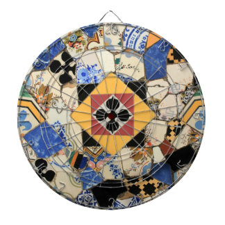 Mosaic decoration dartboard