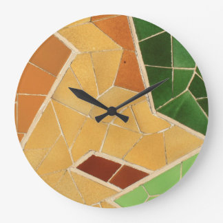 Mosaic decoration large clock