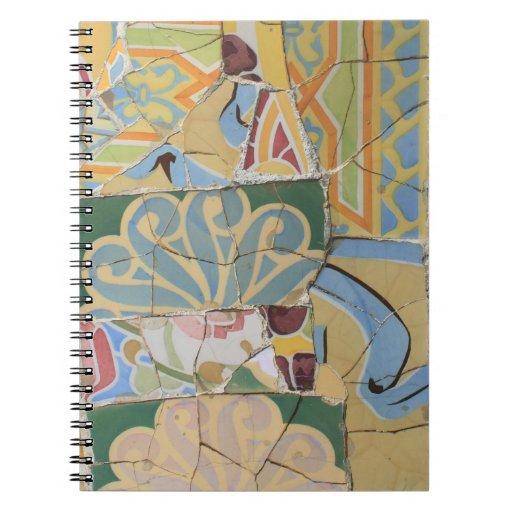 Mosaic decoration notebook