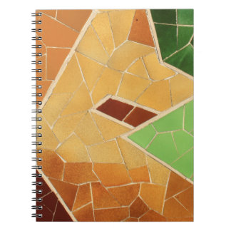Mosaic decoration spiral notebook