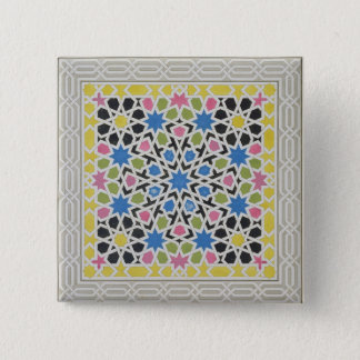 Mosaic design from the Alhambra, from 'The Arabian 15 Cm Square Badge