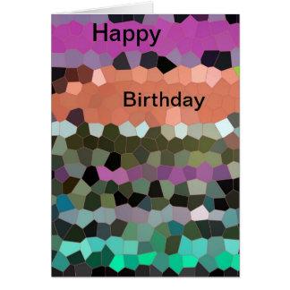 Mosaic Design  Happy Birthday Card