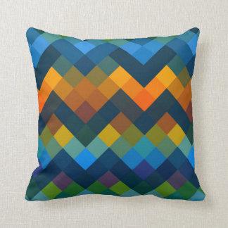 Mosaic Diamond Geometric Pattern #2 Throw Pillow