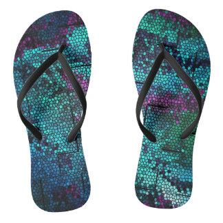 Mosaic Dragon Skin - flip flops