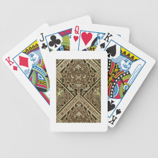 Mosaic ecclesiastical wallpaper design bicycle playing cards