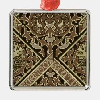 Mosaic ecclesiastical wallpaper design christmas ornament