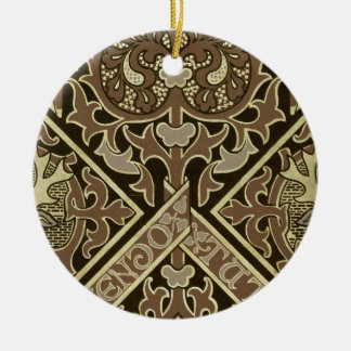 Mosaic ecclesiastical wallpaper design christmas ornament
