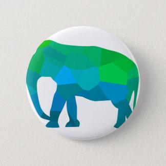 Mosaic Elephant 1 6 Cm Round Badge