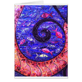 Mosaic Fish Card