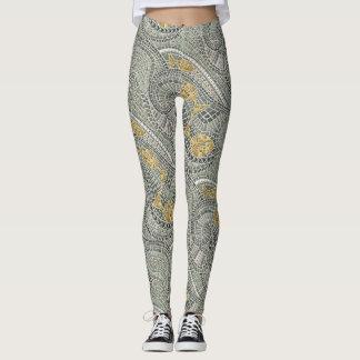 mosaic fish leggings
