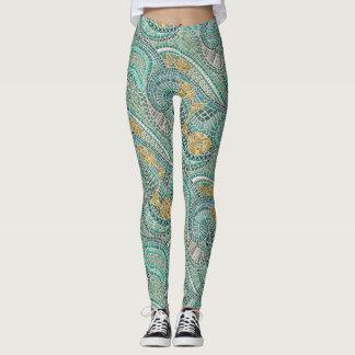 mosaic fish mint leggings