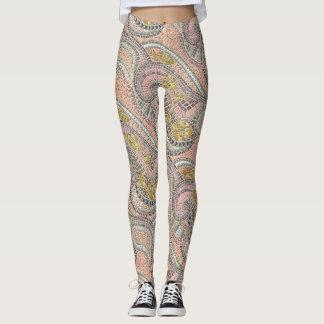 mosaic fish pastel leggings
