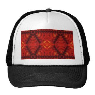 mosaic flower red cap