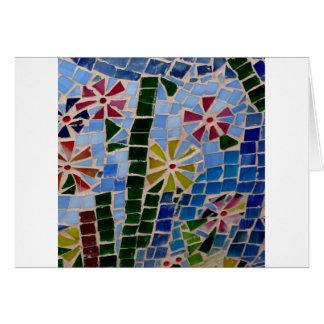 Mosaic Flowers Card
