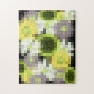 Mosaic Flowers Jigsaw Puzzle