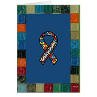 Mosaic Frame For Autism Awareness Greeting Card