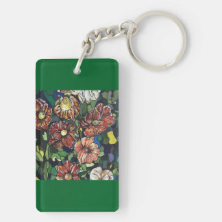 """Mosaic Garden"" Key Ring"
