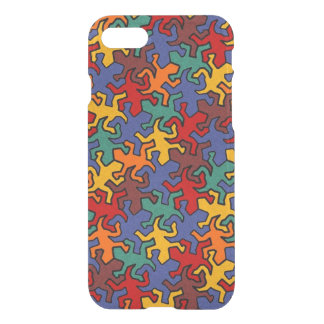 Mosaic Geckos Pattern - Earth Color iPhone 7 Case
