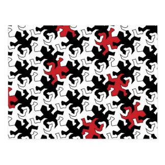Mosaic Geckos - talk black white Postcard
